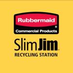 Slim Jim Recycling Station-Rubbermaid